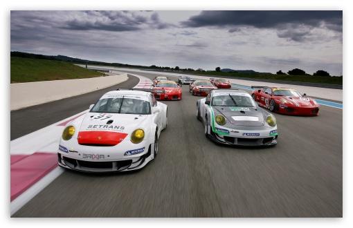 Download Porsche Cars vs Ferrari Cars UltraHD Wallpaper