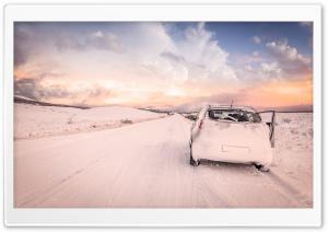 Snowy Road, Car