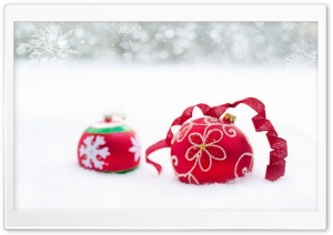 New Year Red Ornaments