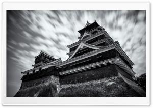 Kumamoto Castle Black and White