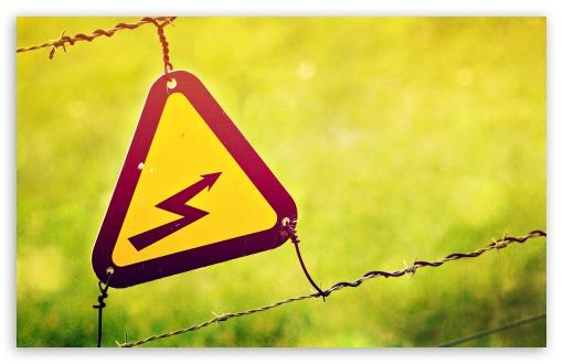 Download Electricity Warning Sign UltraHD Wallpaper