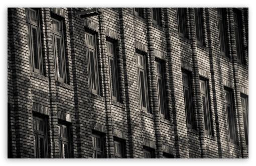 Download Brick Building Monochrome UltraHD Wallpaper