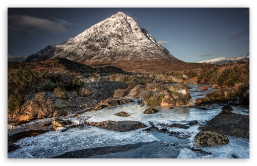 Download Snow covered Buachaille Etive Mor Mountain,... UltraHD Wallpaper
