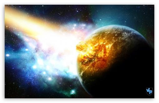 Download Meteor Crash Planet UltraHD Wallpaper