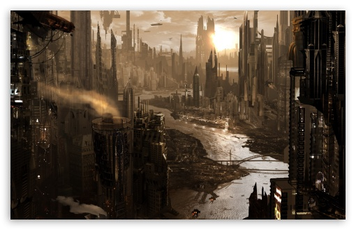 Download City View Digital Art UltraHD Wallpaper