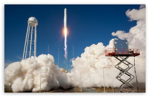 Download Antares Rocket Test Launch UltraHD Wallpaper