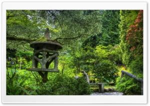 Beautiful Green Park Bench