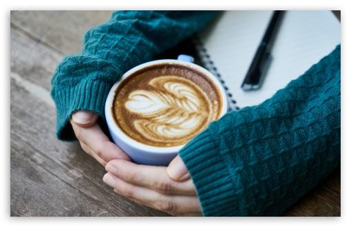 Download Cappuccino Love UltraHD Wallpaper