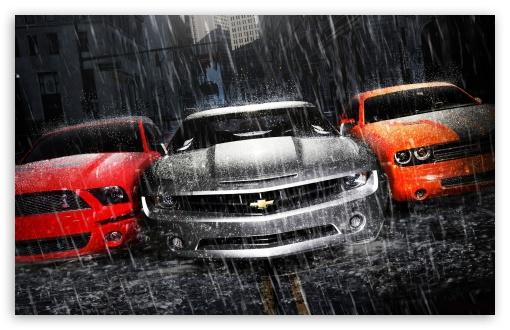 Download Muscle Cars UltraHD Wallpaper