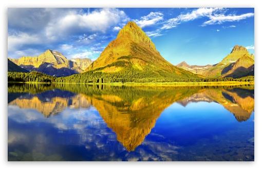 Download Glacier National Park Panorama UltraHD Wallpaper