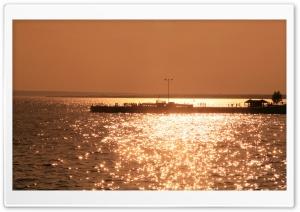 Pier In Sunset Light