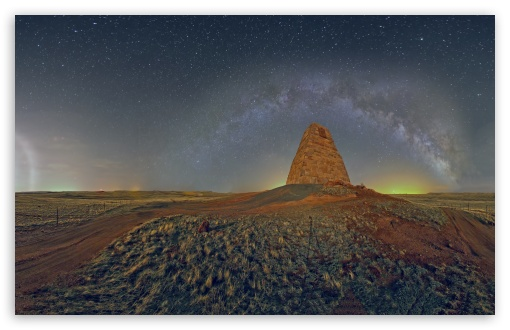 Download Monument Panorama, Night Time UltraHD Wallpaper