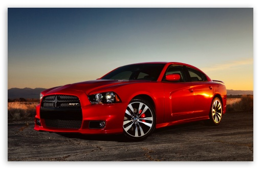 Download Red Dodge Charger SRT8 UltraHD Wallpaper