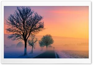 Winter Sunset Scene
