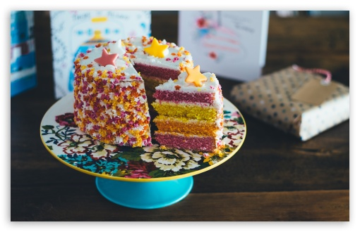 Download Birthday Cake UltraHD Wallpaper