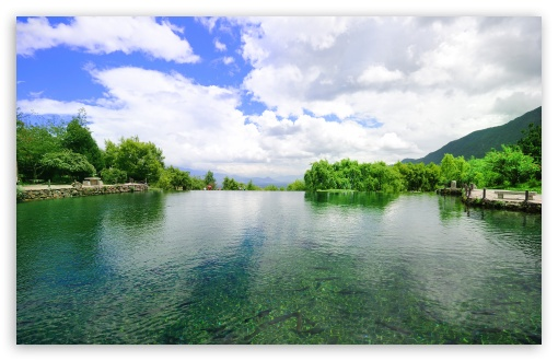 Download Snow Water Lake UltraHD Wallpaper