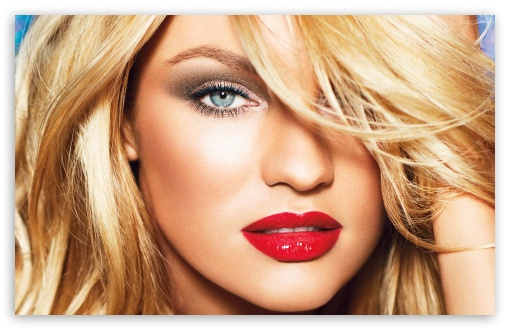Download Candice Swanepoel Red Sexy Lips UltraHD Wallpaper