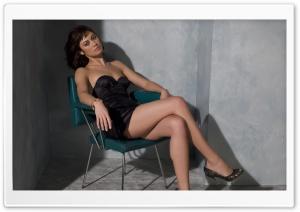 Olga Kurylenko In A Black Dress