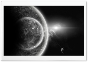 Planets In Black And White