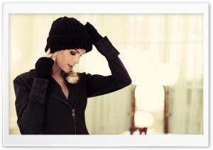 Blonde Woman in Black