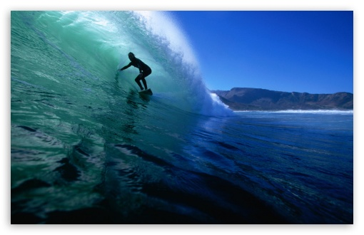 Download Surfing The Tube UltraHD Wallpaper