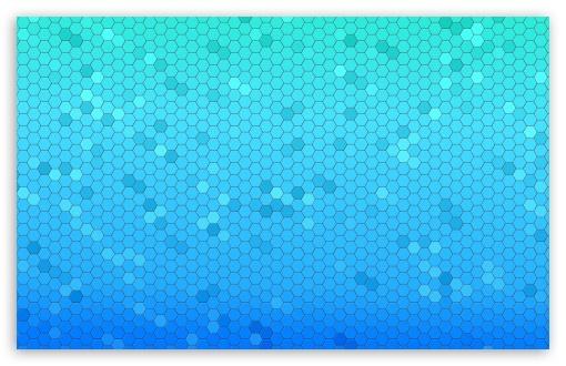 Download Blue Haxagons Pattern UltraHD Wallpaper