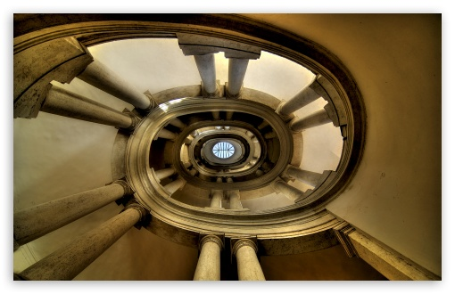 Download The Famous Helicoidal Staircase by Borromini UltraHD Wallpaper