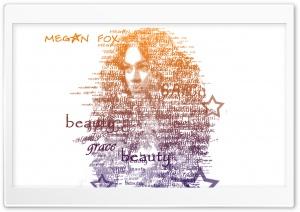 Megan Fox Typography