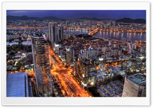 Seoul At Night, South Korea