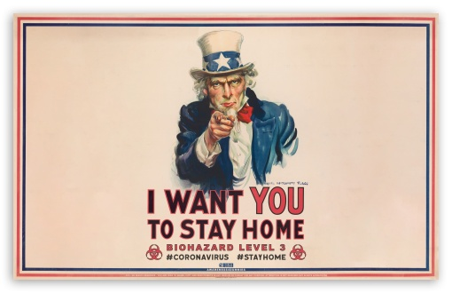 Download Stay at Home Biohazard Warning UltraHD Wallpaper