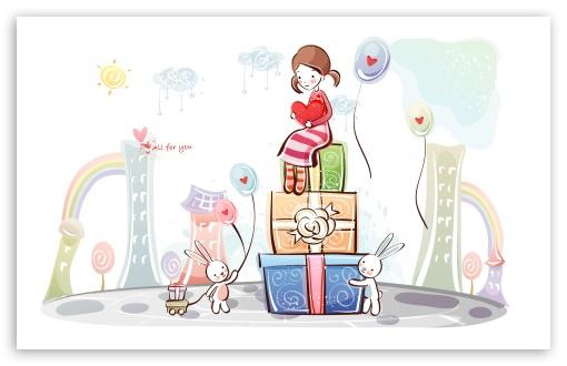 Download Love Gifts UltraHD Wallpaper