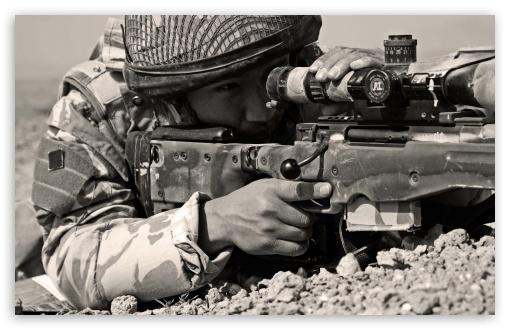 Download Sniper Sepia UltraHD Wallpaper