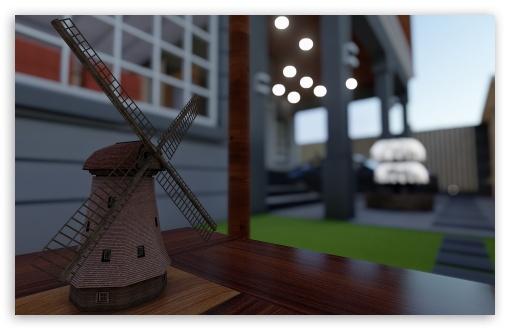 Download Windmill 3D UltraHD Wallpaper