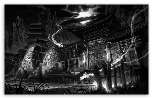 Download Dark Temple UltraHD Wallpaper