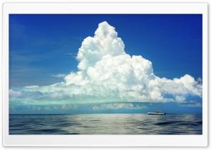 Cumulus Clouds Above the Sea