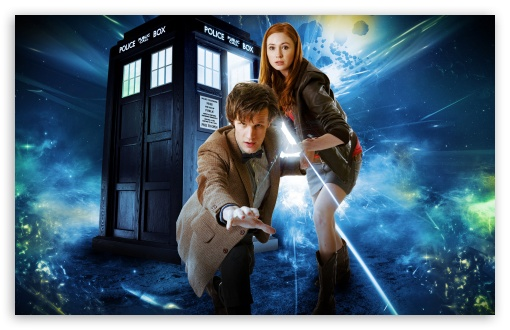 Download Doctor Who   Matt Smith and Karen Gillan UltraHD Wallpaper