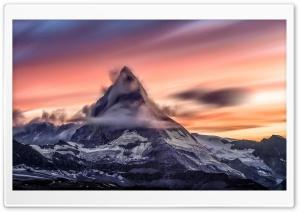 Matterhorn mountain at Sunset