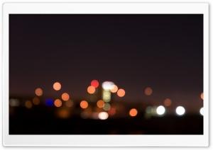 City Night Lights Bokeh