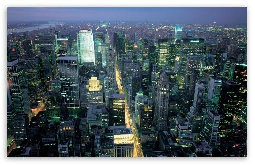 Download New York Night Life UltraHD Wallpaper