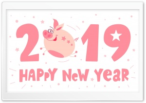 2019 Happy New Pig Year