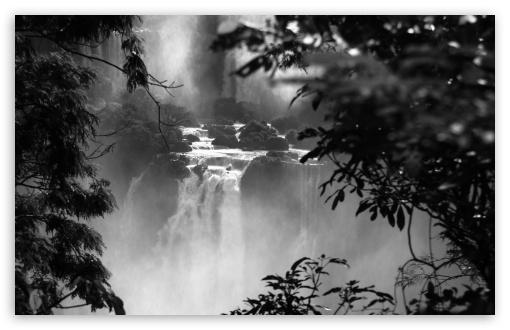 Download Iguazu Falls Black And White UltraHD Wallpaper