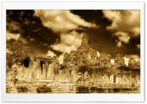 The Towers Of Angkor Thom,...