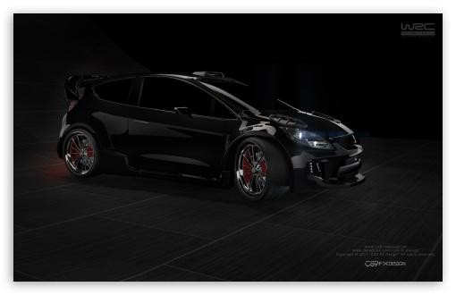 Download 3D Modeling - Ford Fiesta - CS9 FX Design UltraHD Wallpaper
