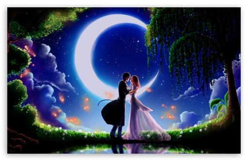 Download Art Fireflies UltraHD Wallpaper