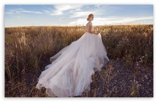 Download Bride, Field, Landscape, Nature, Outdoor UltraHD Wallpaper