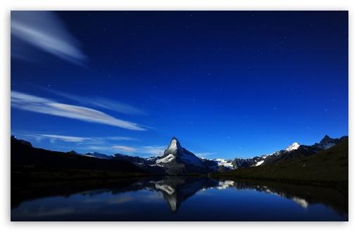 Download Matterhorn At Night UltraHD Wallpaper