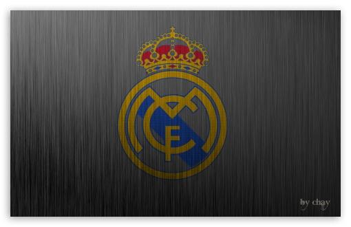 Download Real Madrid Metal Logo UltraHD Wallpaper