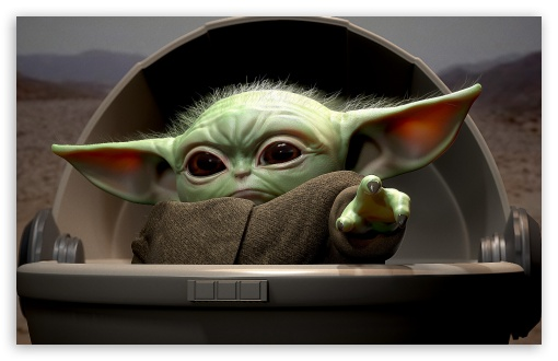 Download Baby Yoda UltraHD Wallpaper