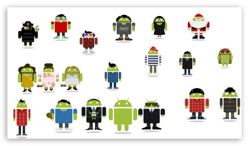 Download Android Family UltraHD Wallpaper