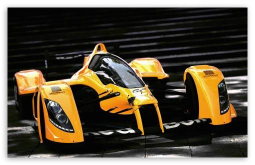 Download Racing Orange Car UltraHD Wallpaper